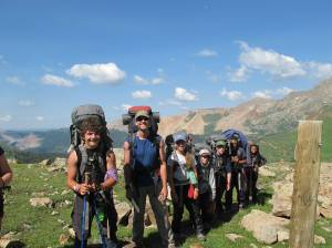 The group from the first contract. San Juan Mountains.