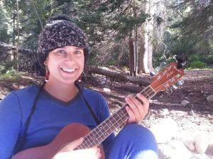 playin the uke on a mountain